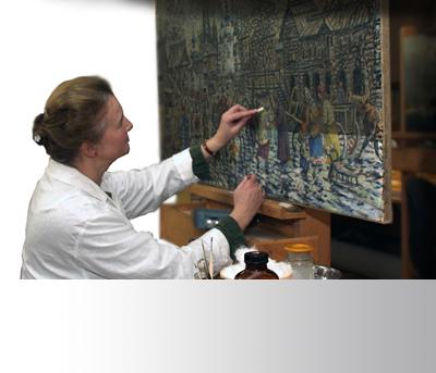 Реставрация картины в отделе ...: restoration.rusmuseum.ru